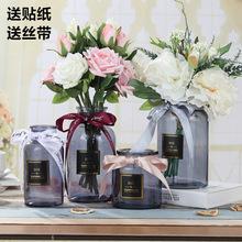 mini玻璃花瓶ins北歐透明花瓶家居擺件歐式插花水培花器花盆批發
