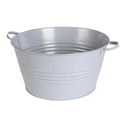 广东厂家生产 白色喷粉冰桶 铁手柄 大冰桶 节日用