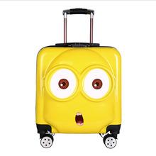 大眼睛小黄人拉杆箱20寸登机箱儿童拉杆箱旅行箱三种表情厂家直销