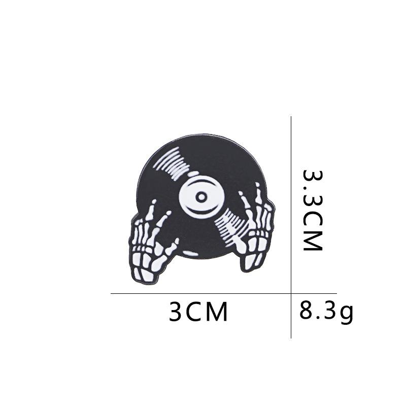 explosión broche personalidad punk Halloween cráneo golpear plato mini collar pin bolsa revestimiento accesorios al por mayor nihaojewelry NHMO220258