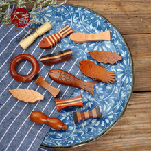 日式ZAKKA木质勺子托 居酒屋适用筷子托筷子垫陶瓷木筷架量大价优