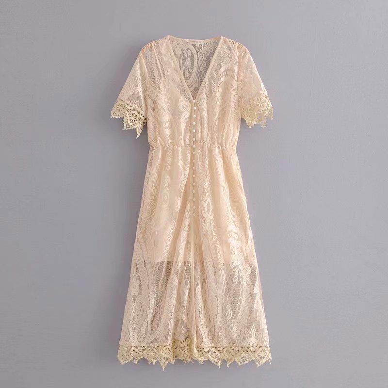 Lace Fashionskirt(Beige-L) NHAM4442-Beige-L
