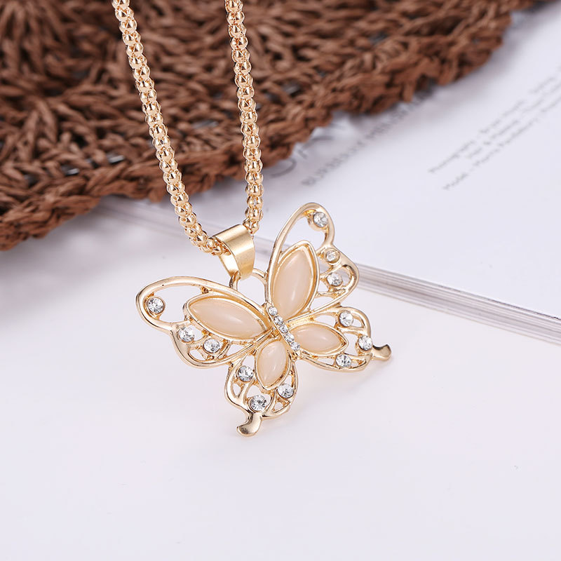 Womens Butterfly Electroplating Alloy Necklaces NHDP149945