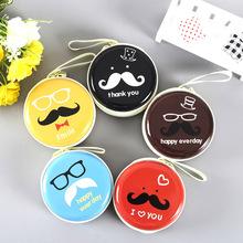 韩版创意儿童硬币包女士钱包 马口铁零钱包定制耳机收纳可爱钱包