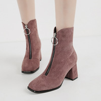 7628-2 skinny boots, children's front zipper boots, thick sexy sexy Martin boots, British style square boots.