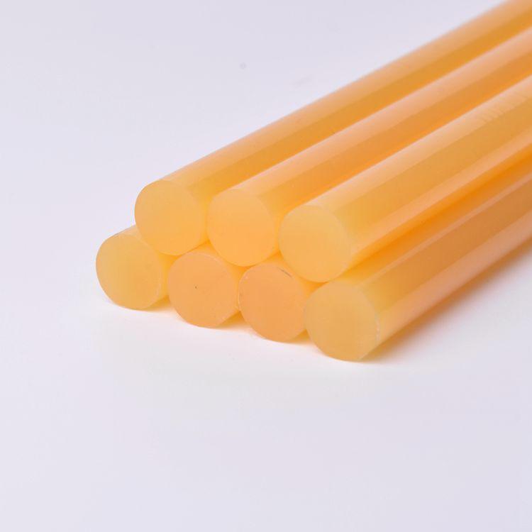 厂家批发黄色热熔胶棒 快速封箱封盒热熔胶棒 重纸箱专用热熔胶棒