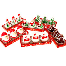 热卖圣诞蜡烛 狂欢夜娱乐场所布置浪漫晚餐烛光 圣诞节小蜡烛