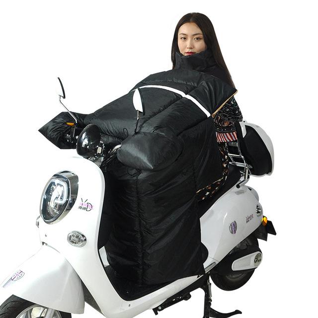 Nhà máy trực tiếp xe điện kính chắn gió được tăng lên vào mùa đông cộng với nhung dày ấm áp xe máy gió quần áo không thấm nước Xiêm Kính chắn gió