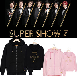 SUPER JUNIOR concert around WORLD TOUR SUPER SHOW7 with the same zipper sweater coat