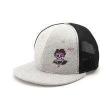 彩色跑卡通潮流嘻哈风格平板帽韩版个性百搭男女街舞遮阳平沿帽