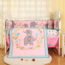 工厂直销外贸原单新款花花世界婴儿床品四件套童被床围等