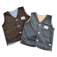 嬰幼兒童裝男女寶寶0-3歲燈芯絨秋冬季馬甲工廠外貿尾單一件代發