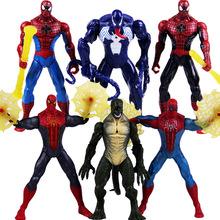 6款 漫画英雄超凡蜘蛛侠3 毒液人偶 蜥蜴人 7寸关节可动公仔模型
