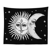 抽象彩绘卡通蝴蝶女孩现代客厅装饰画太阳神曼陀罗挂毯背景墙