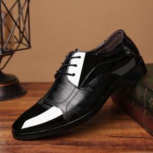 2019春季新款皮鞋男士商务正装大码鞋子时尚百塔婚鞋一件代发