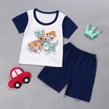 兒童夏季套裝新款男女童韓版嬰兒純棉T恤兩件寶寶短袖短褲t恤套裝