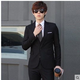 Polyester fiber suit suit men's three-piece suit small West decoration body groom groomsmen wedding dress