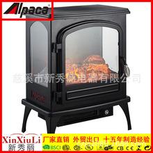阿尔?#37327;?#30005;壁炉,独立式电壁炉带暖气,三面可视3D火焰家用单开门