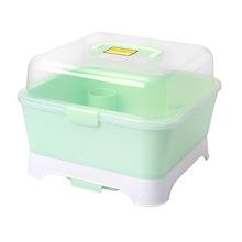 婴儿奶瓶收纳箱盒带盖防尘奶瓶架沥水晾干架宝宝餐具收纳盒