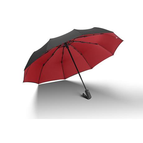 Logo tự động ô đôi ô xương mười lần tăng gấp ba lần ô tự động chống nắng vinyl ô tùy chỉnh Ô dù nóng