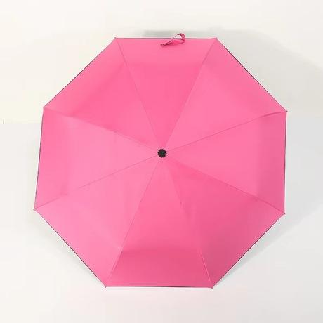 ô gấp ba tự động ngoài trời rắn màu vinyl ô từ mở để đóng ô dù quảng cáo tùy chỉnh LOGO Ô dù nóng