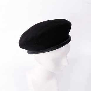 Net red Peng Yuyan, the same mushroom painter hat, spring and autumn pure wool beret, square sailor dance hat export