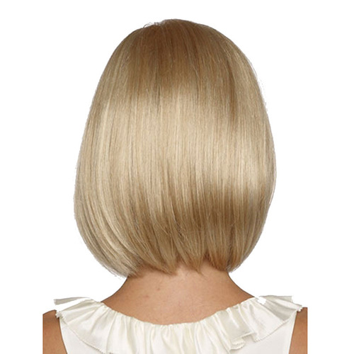 Bob Hair Wigs Perruques Bob Hair Pelucas De Cabello Bob Wig female short straight hair Bobo head light gold Synthetic Wigs wig Headcover support