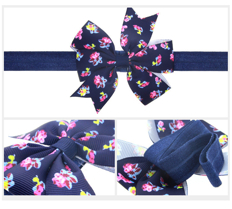 Cloth Fashion Flowers Hair accessories  Navy  Fashion Jewelry NHWO1129Navy