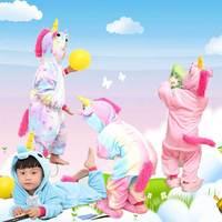 Фланель детские Мультяшное животное, цельные пижамы, звезды, лошадь осень-зима утепленный Главная служба товар в наличии Прямые продажи прямых продаж