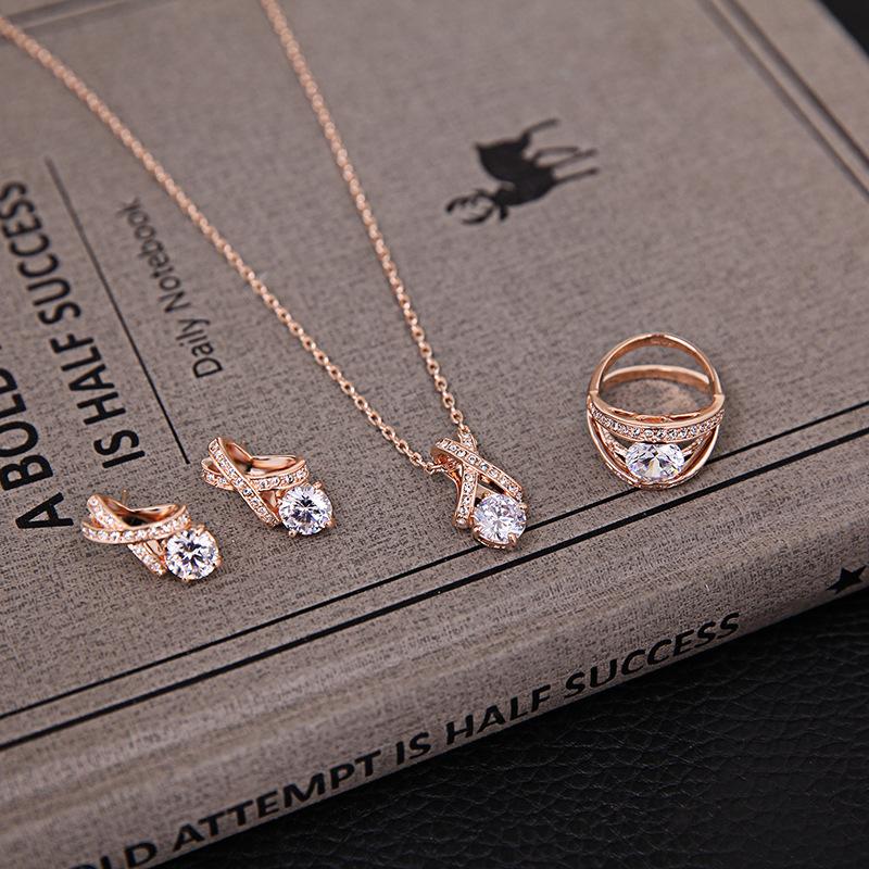 Alloy Fashion  Jewelry Set  61163166 rose alloy NHLP110161163166rosealloy