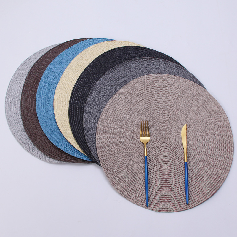 pp环保手工编织餐垫 ins欧美流行隔热垫装饰垫亚马逊爆款多色可选