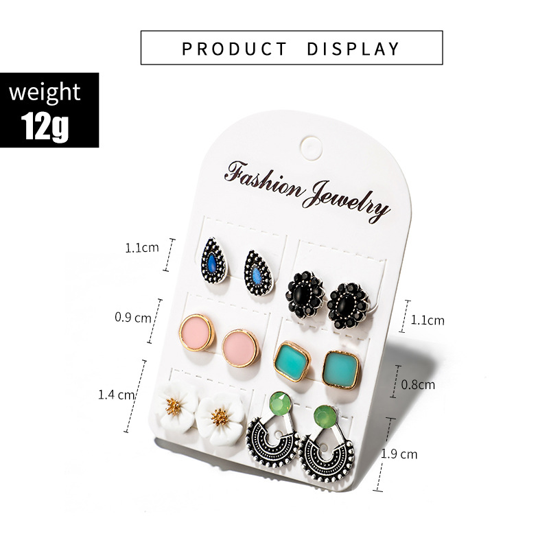 Alloy Simple Flowers earring  (6878) NHGY2862-6878
