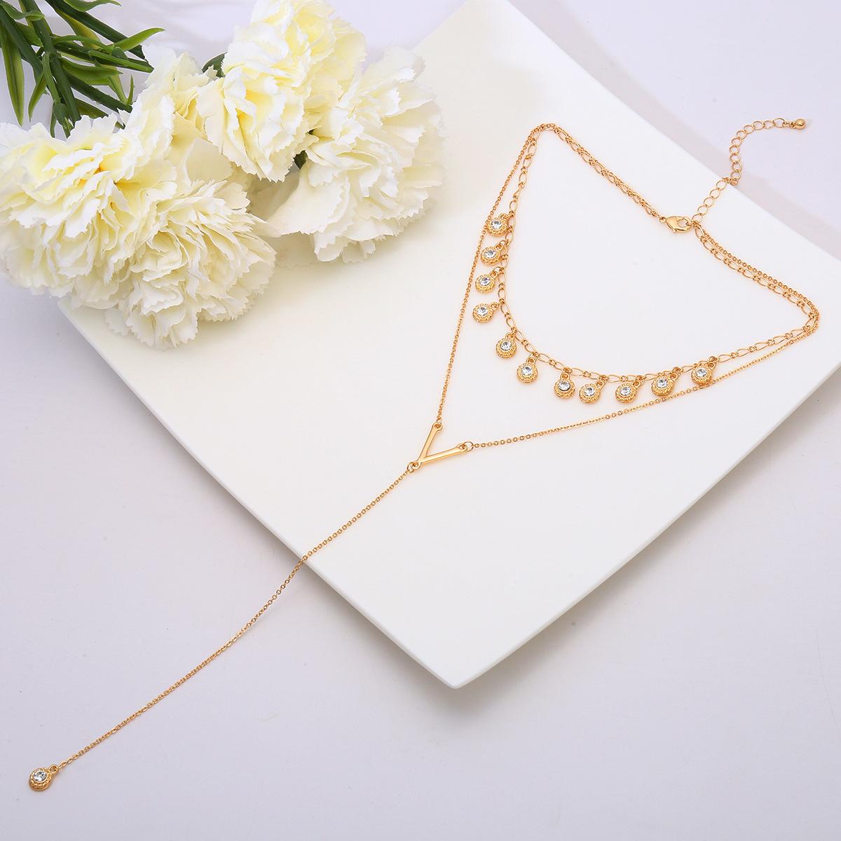 Alloy Simple Tassel necklace  Alloy 1967 NHXR2473Alloy1967