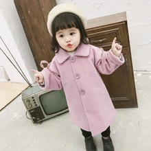 Children's wear girls coat winter fashion trend girls middle and small children comfortable lace mink coat