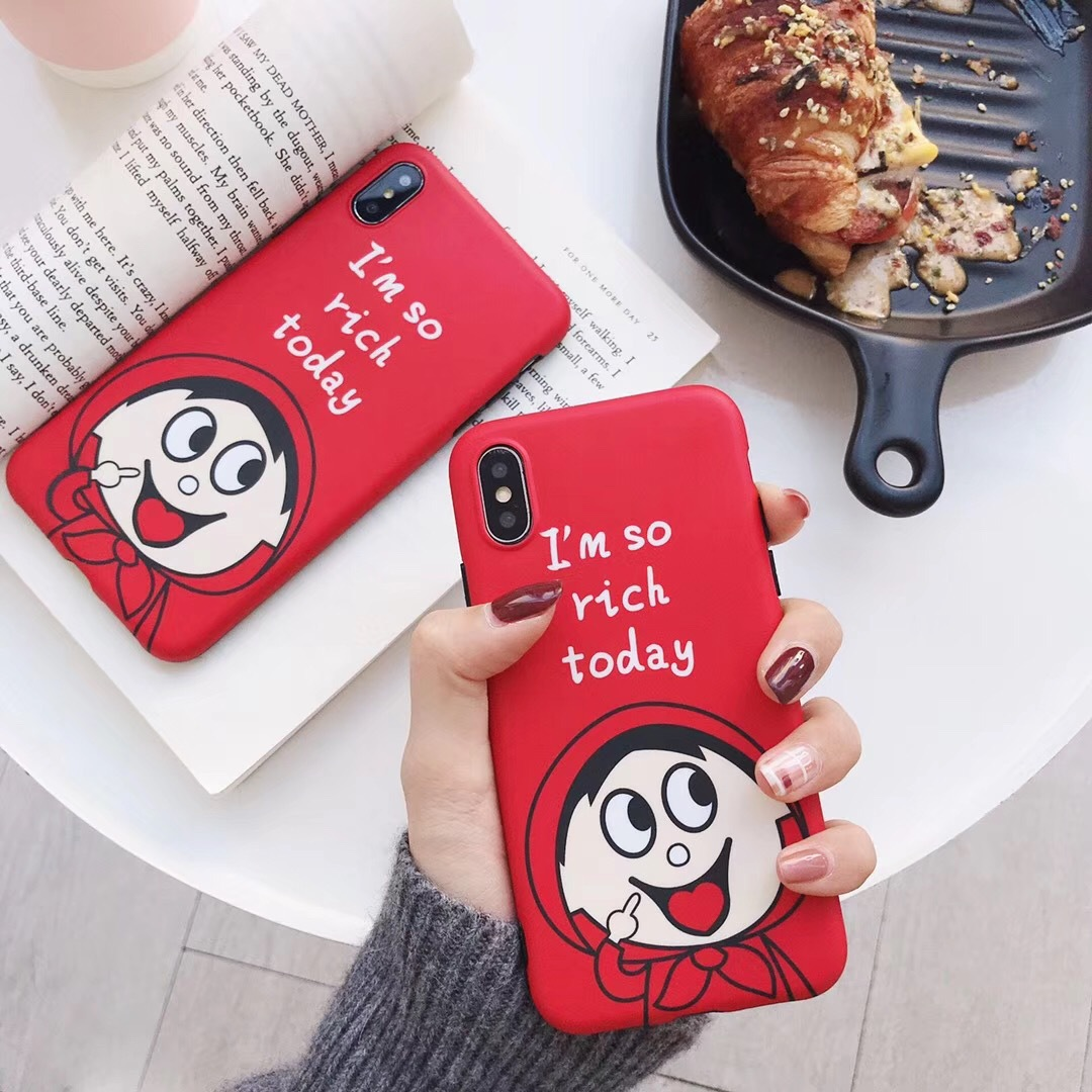 Applicable spoof little Red Riding Hood iPhone7plus mobile phone shell frosted apple 8p generation IMD soft shell Wang Chai protective cover