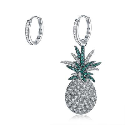 新款欧美风夸张大菠萝不对称耳环女时尚水果甜美气质耳坠耳饰批发