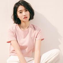 2019夏季新款韩版学院风可爱后?#35802;?#24102;短袖T恤女chic学生短款上衣