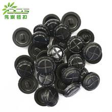 工廠生產 環保尿素腳鈕扣 日本仿皮黑色長腳扣子 高檔西裝紐扣