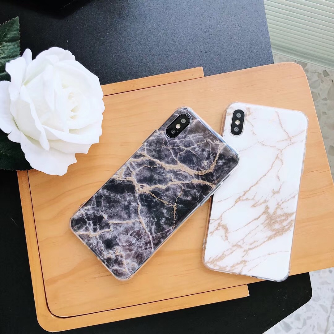 Vibrating sound with iphone7plus mobile phone shell marble pattern apple 8 all-inclusive soft shell painted creative mobile phone shell