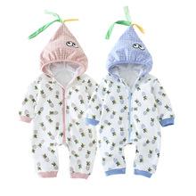 一件代发婴儿连体衣秋冬季新款棉衣宝宝外出哈衣新生儿衣服批发潮