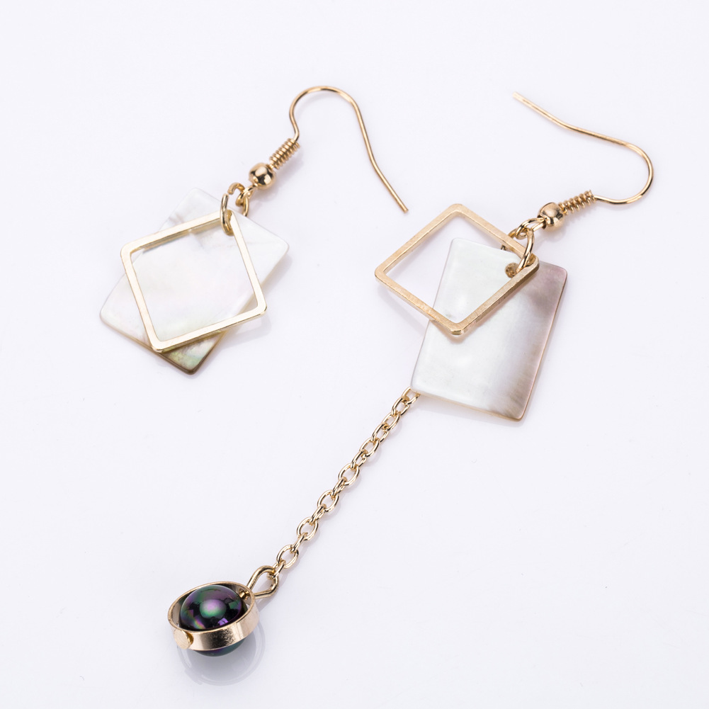Alloy Fashion Geometric earring(white) NHJE1192-white