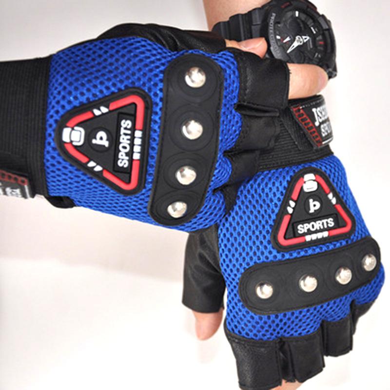 半指手套 男女春夏季健身PU骑行运动战术 四颗钉皮革钓鱼手套批发