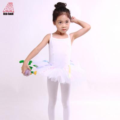 红雨舞蹈用品芭蕾舞裙吊带儿童舞蹈表演纱裙练功连体服短裙