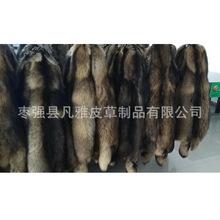 厂家批发貉子皮毛领毛条帽条羽绒服辅料定做代加工可染色现货处理