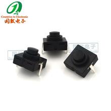 TZ-1212-112D 有锁9H手电筒开关按钮2脚手电筒电源自锁按键开关