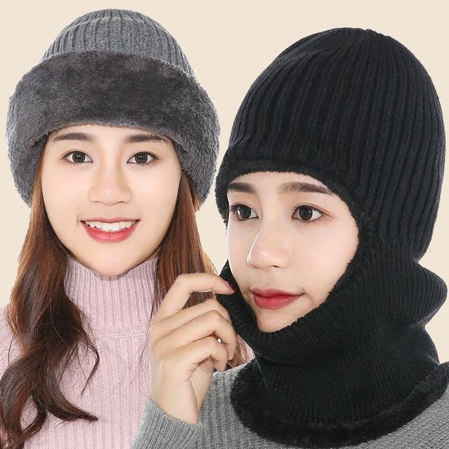 【三合一】口罩耳罩围脖冬季男女户外用品骑车加厚保暖防风帽子
