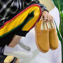 2018冬季新款加绒棉鞋男士休闲鞋潮流套脚韩版加厚保暖老虎头男