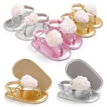 海雅 夏季0-1岁女宝宝夹脚凉鞋硅胶防滑鞋婴儿学步鞋 支持一件代