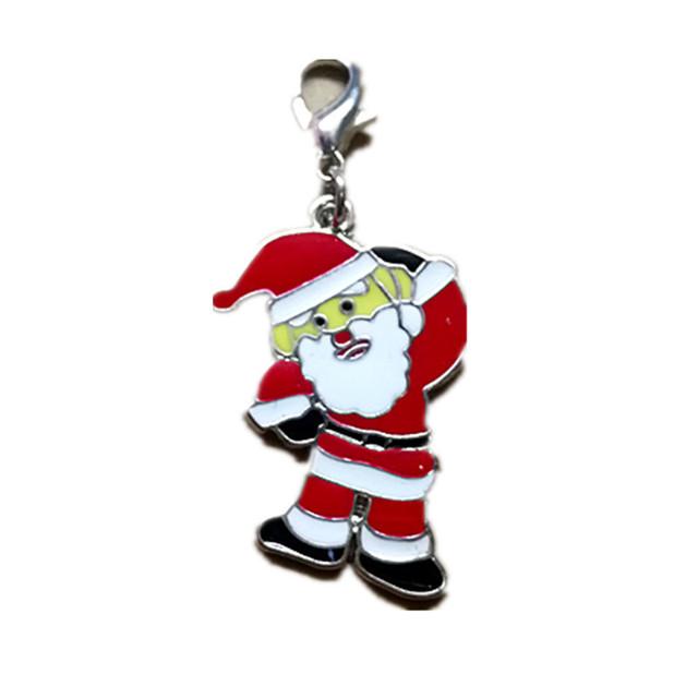 圣诞老人挂牌 狗项圈牵引吊坠 猫牌吊牌 宠物饰品 跨境电商