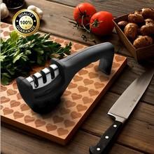 磨刀器3槽陶瓷磨刀棒钨钢金刚石磨刀石 家用厨房小工具手柄磨刀器